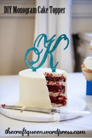 the craft queen 8 diy wedding monogram cake topper
