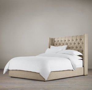 "Adler Tufted Platform 56"" Bed (Restoration Hardware)"
