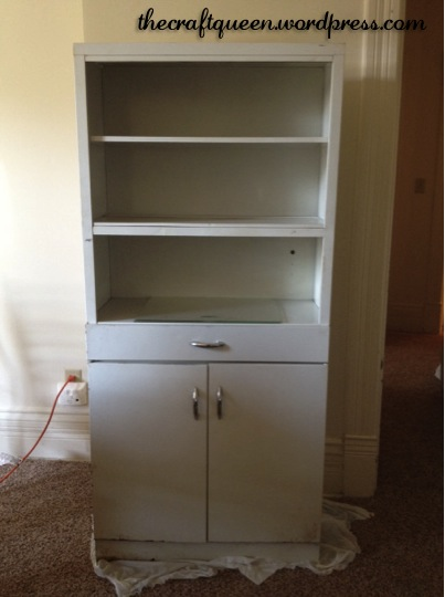 I didn't take any photos of the inside of the cabinet, but let me assure  you…it was nasty! At some point in time, this poor lady obviously sat in  someone's ... - 22. Before And After: Vintage Metal Cabinet – The Craft Queen