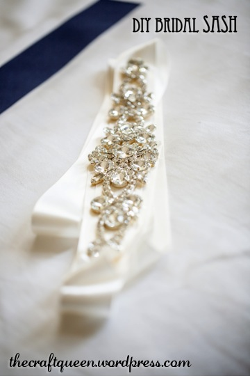 diy bridal sash belt