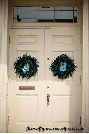 peacock wreaths