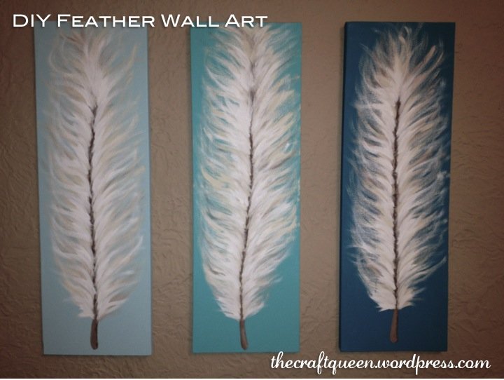 Made from Scratch DIY Feather Wall Art  The Craft Queen