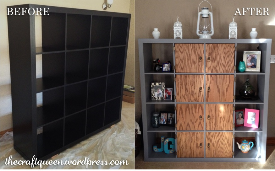 42 before and after ikea expedit hack the craft queen Ikea furniture makeover