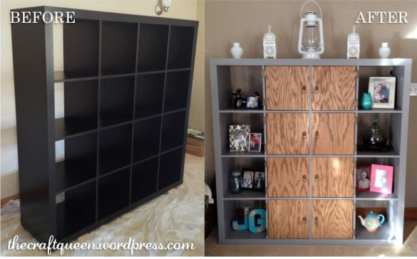 ikea expedit hack before and after
