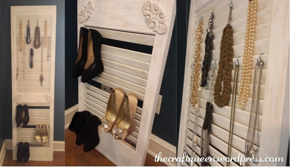 shutter door jewelry storage