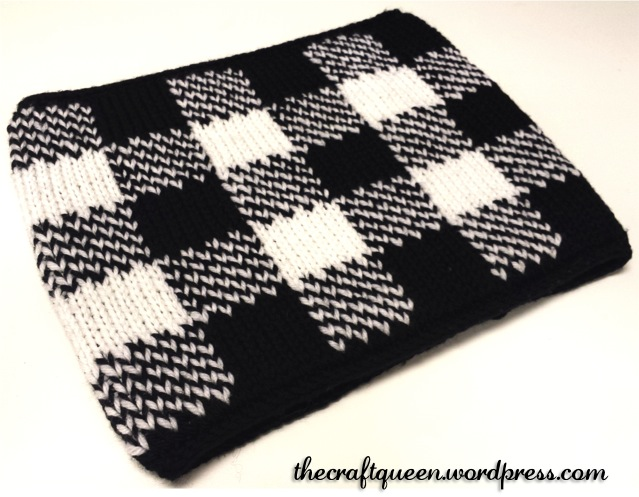 57 Knitting Double Knit Gingham Neck Warmer Free Pattern The