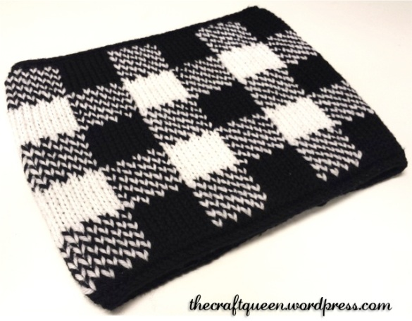 gingham neck warmer pattern