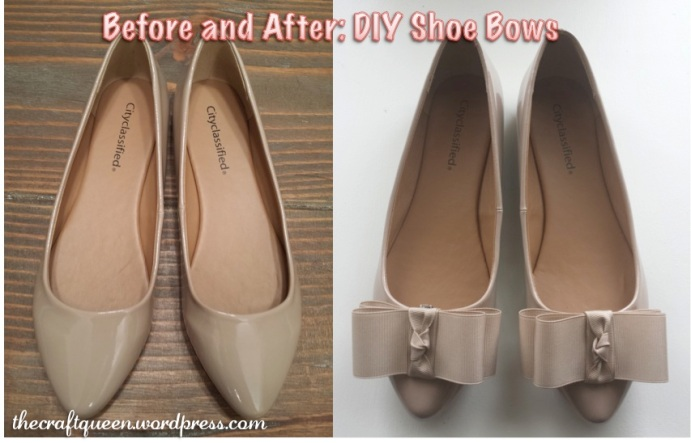 diy shoe bows clips tutorial