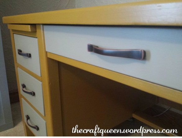 vintage desk furniture makeover
