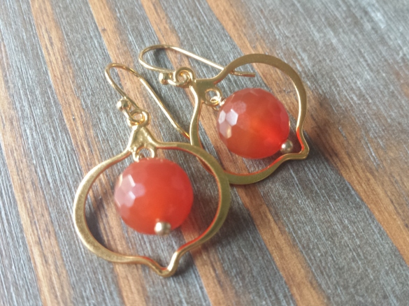 orange carnelian earrings