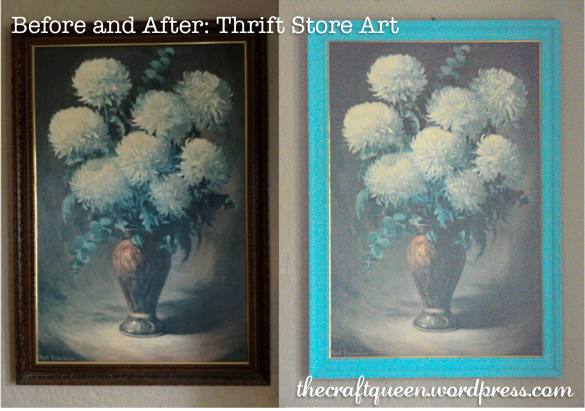 before and after thrift store art