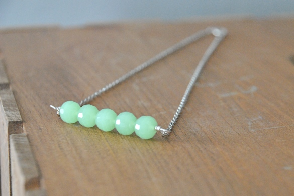 Buy it on Etsy here: https://www.etsy.com/listing/212940829/mint-green-beaded-bar-necklace