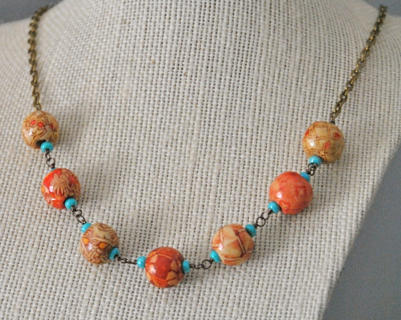 Buy it on Etsy here: https://www.etsy.com/listing/212937800/colorful-wood-bead-necklace