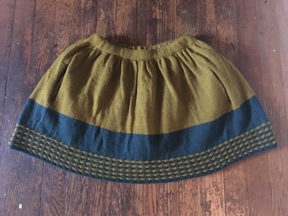 78. Knitting: New Girl Skirt (2/3)